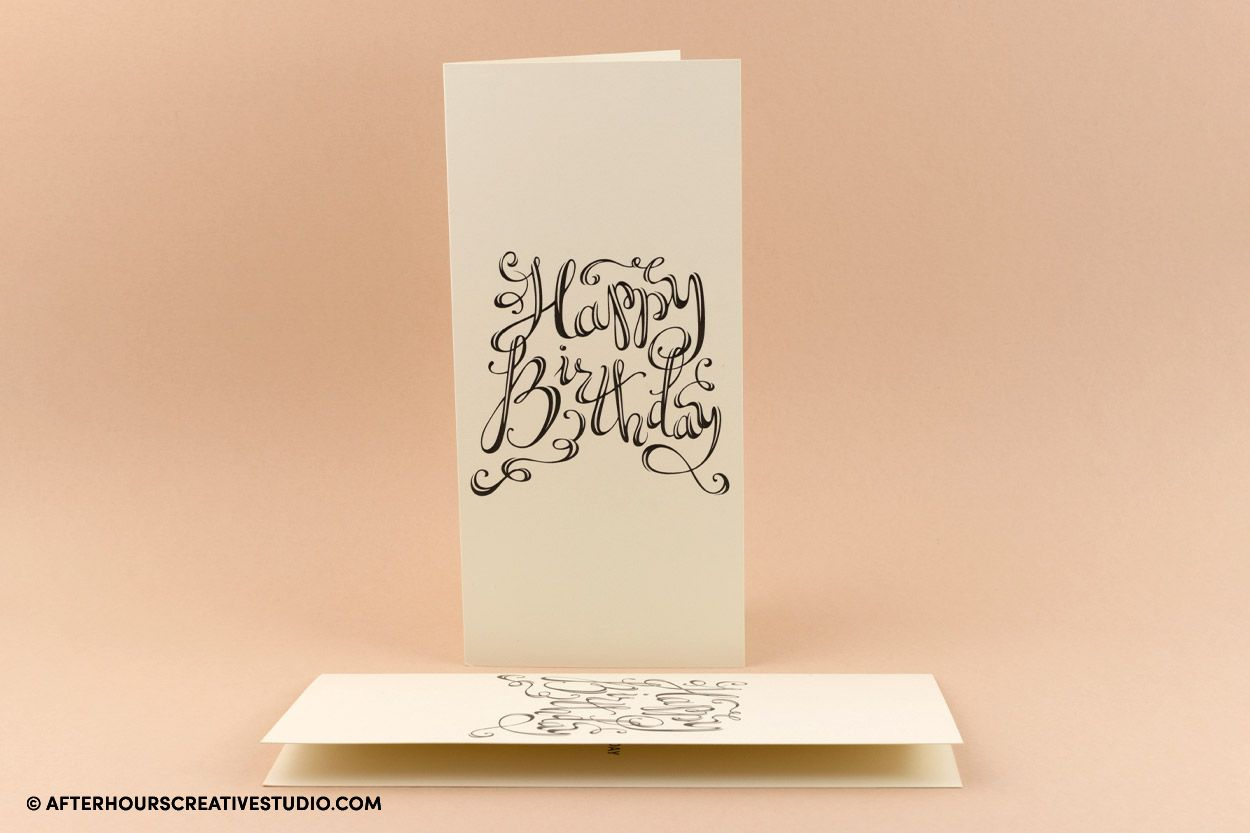Conqueror Cove cream greeting card, with double-sided printing.