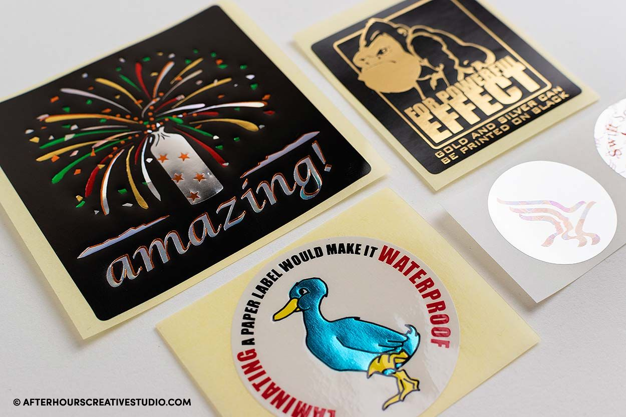 metallic foil sticker printing
