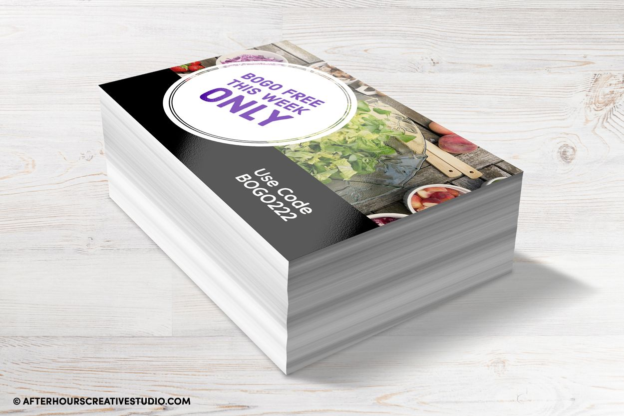 Impacting Gloss Laminated flyers on 450gsm.