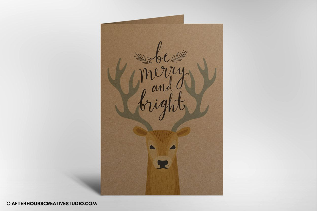Kraft greeting card printing