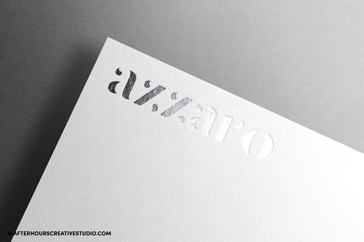 Silver foil blocked letterheads