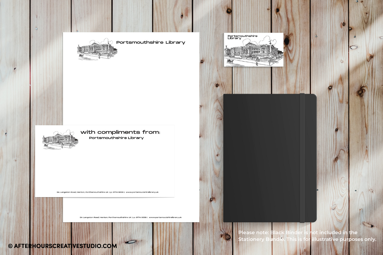 Stationery Bundle: Letterheads, Compliment Slips and Business Cards with full colour printing on premium stocks.