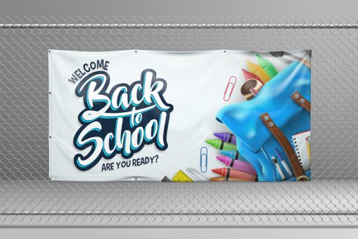 1 X 2 PVC Banner with single-sided printing.