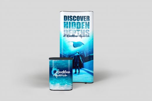 1 X 3 Exhibit Stand with full colour printing.