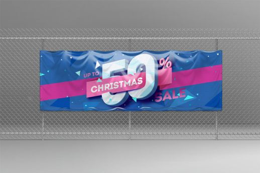 1 X 3 PVC Banner with single-sided printing.