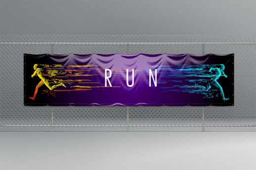 1 X 4 PVC Banner with single-sided printing.