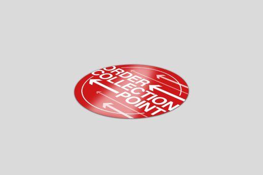 300mm Circle Vinyl Floor Sticker printing, single-sided.