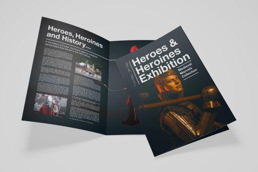 A5 half fold leaflets