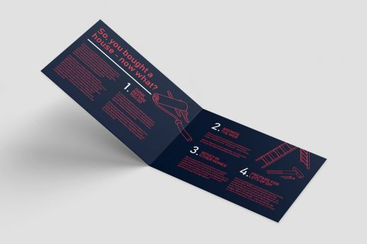 A5 short edge folded leaflets