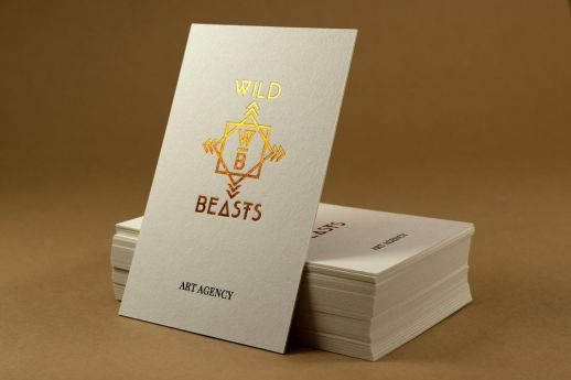 copper foil colorplan business cards