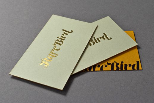 Colorplan hot foil stamped business card
