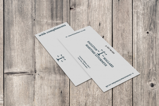 Compliment slip printing on 120gsm.
