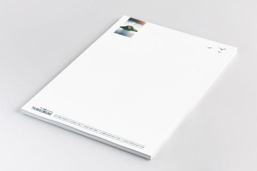 High-quality A4 letterheads with full-colour printing on Conqueror Wove 120gsm.