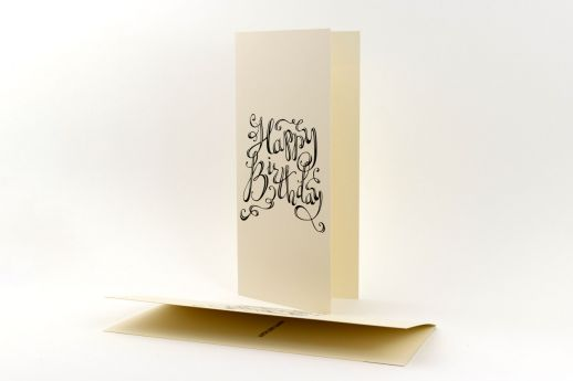 Conqueror wove cream greeting card printing.