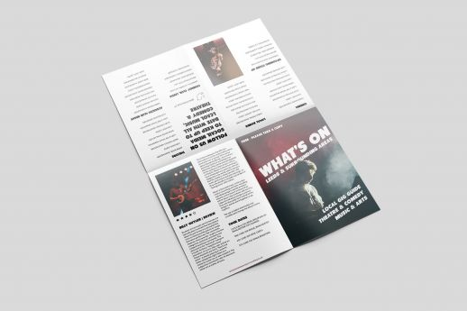 A6 leaflets cross fold