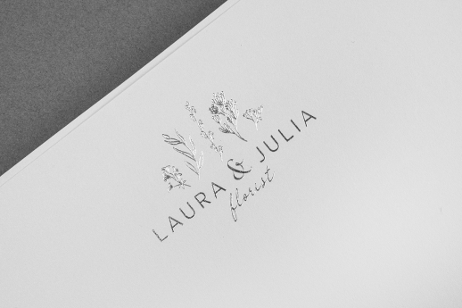 Beautiful A4 letterheads on 160gsm with silver metallic foil.