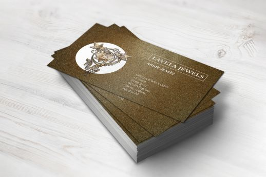 Visually impacting Gloss Laminated business cards with full colour printing.