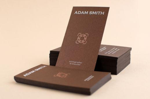 Gmund Gold Rich Copper Business Card