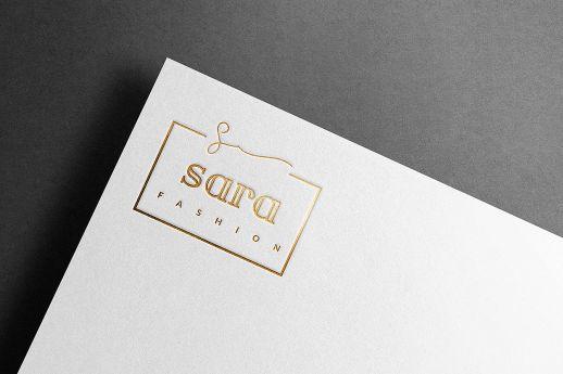 Gold foil blocked letterheads