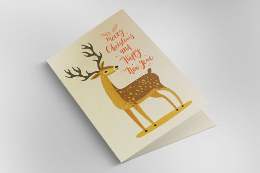 Ice Gold greeting cards with double-sided printing.