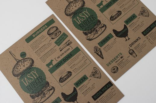 Lovely crafted Kraft flyers with full colour printing.