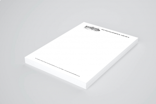 A4 Letterheads on 120gsm with single-sided printing.