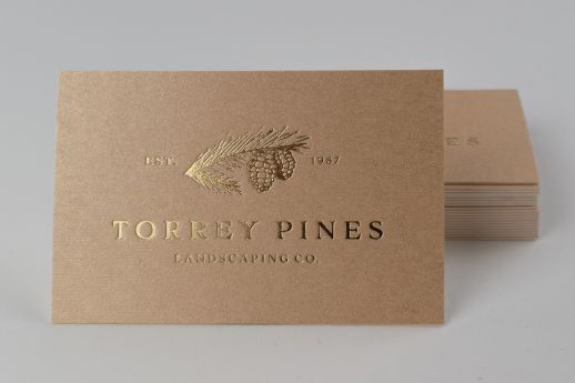 Gold foil gmund gold business card