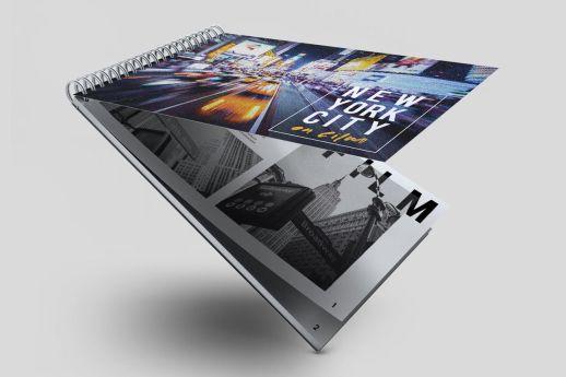 Landscape wiro bound note book