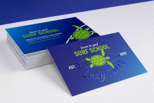 Matt laminated raised spot UV business card