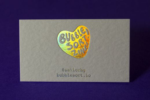 Wild Business Card with holographic foil stamping.