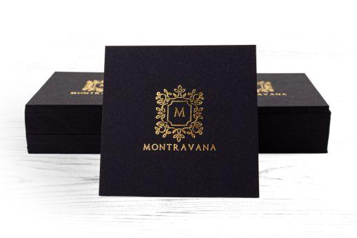 Vanguard black with metallic gold foil stamp