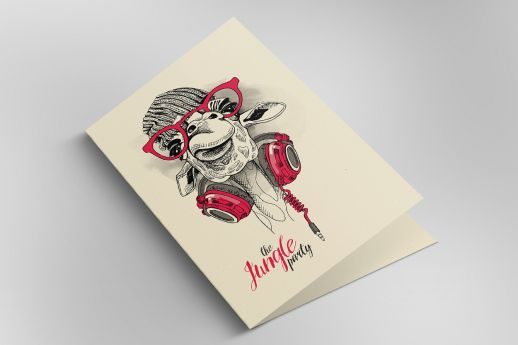 Woodstock Betulla Pulp greeting cards with single-sided printing.