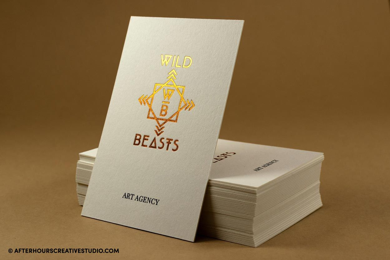 copper foil colorplan business cards