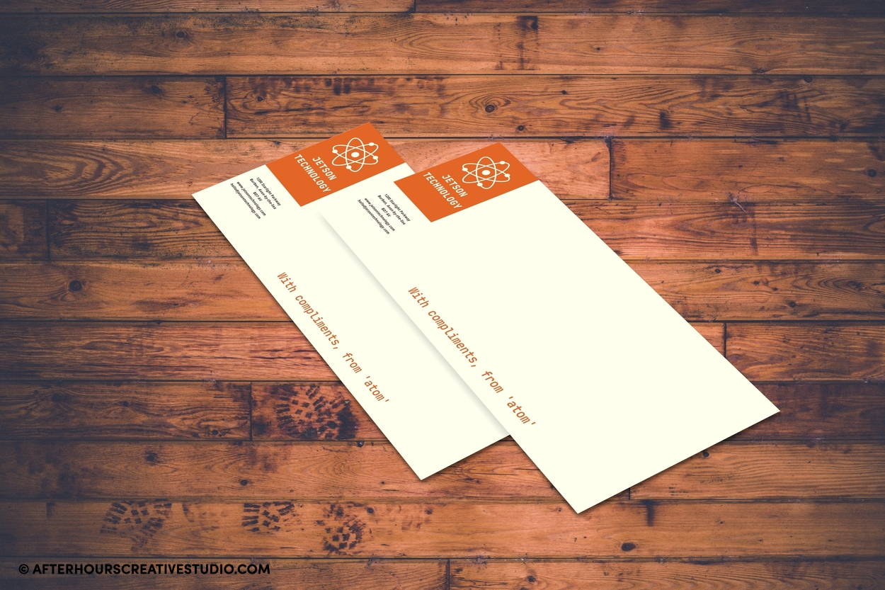 Compliment slips on 160gsm with double-sided printing.