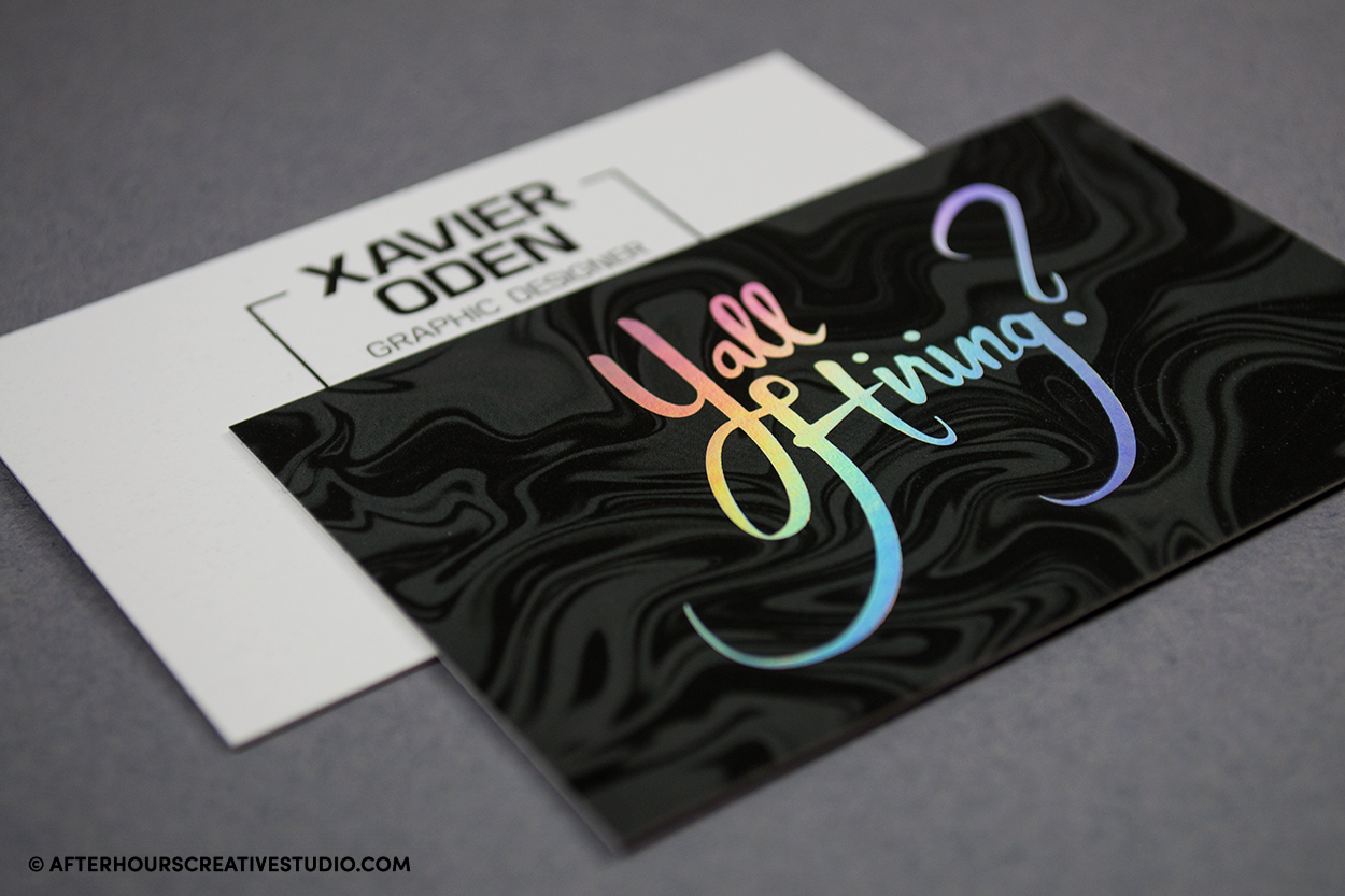 Holographic Foil Business Cards