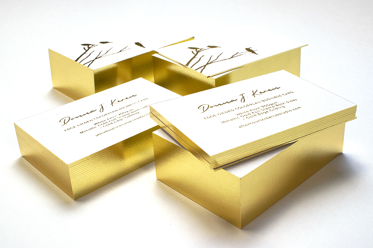Gold Edge Gilded Business Cards
