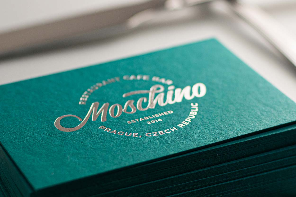 Matt Silver Foil Stamping on Colorplan