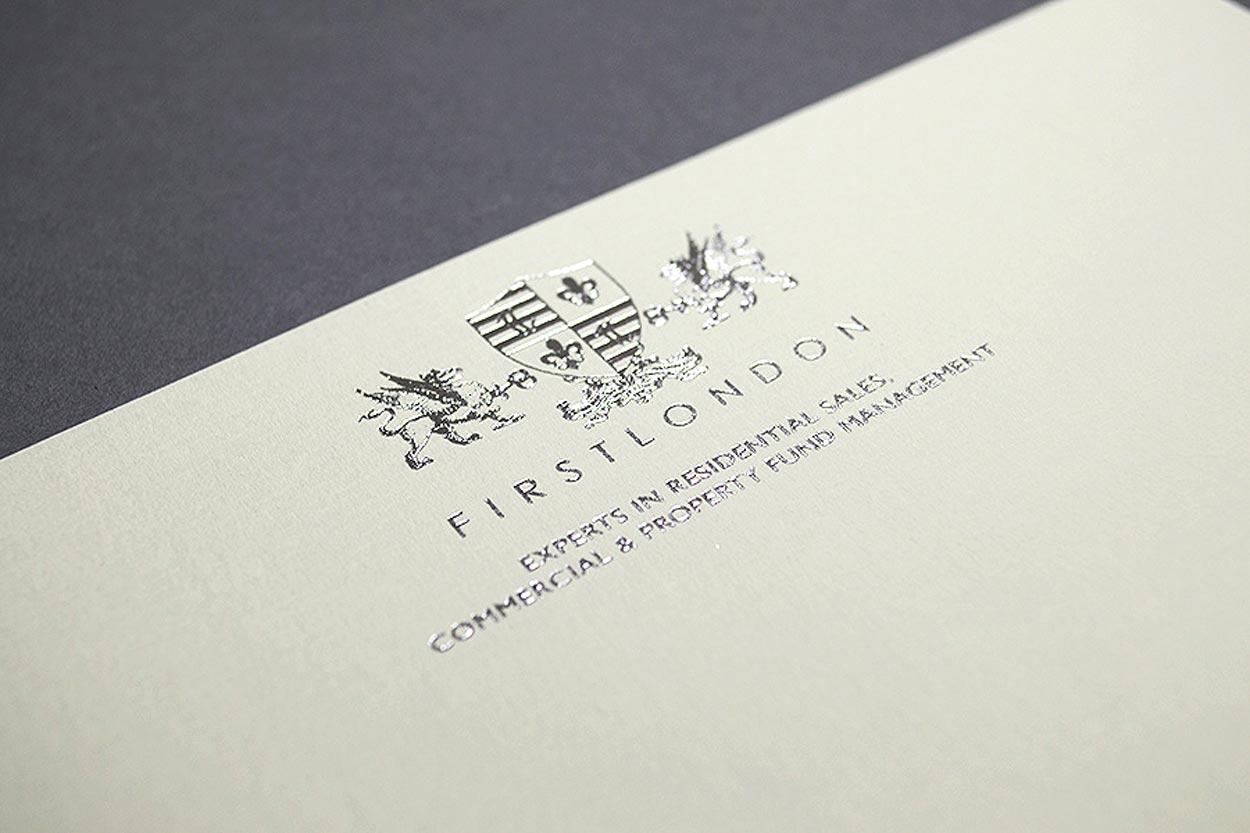 foil blocked letterheads