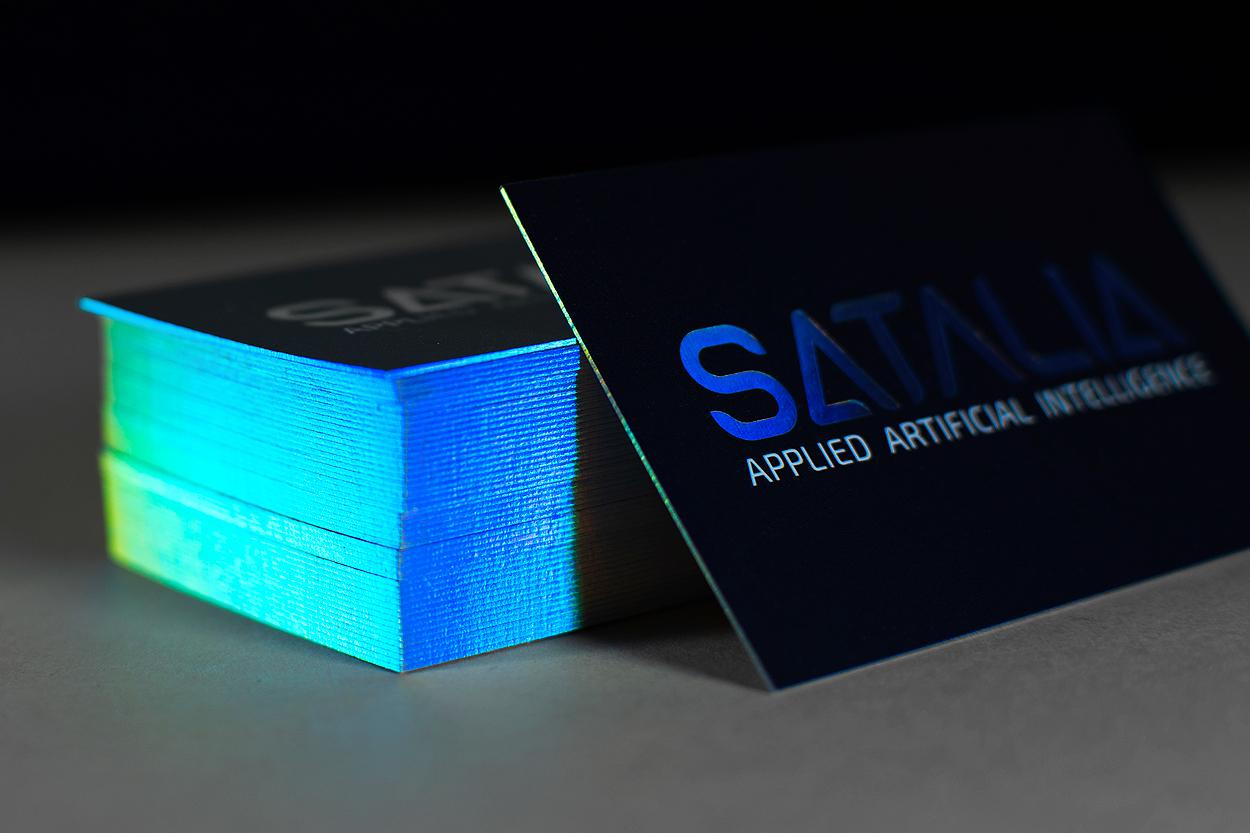 Rainbow edge business cards